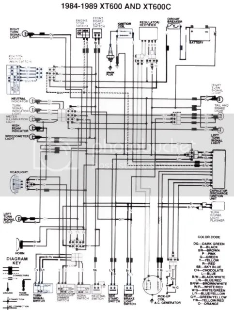 xt 600 wiring diagram captain source of wiring diagram XT 600 CC