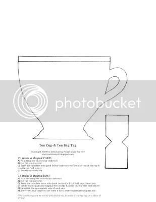 Tea Time} Tea Cup Template - Splitcoaststampers