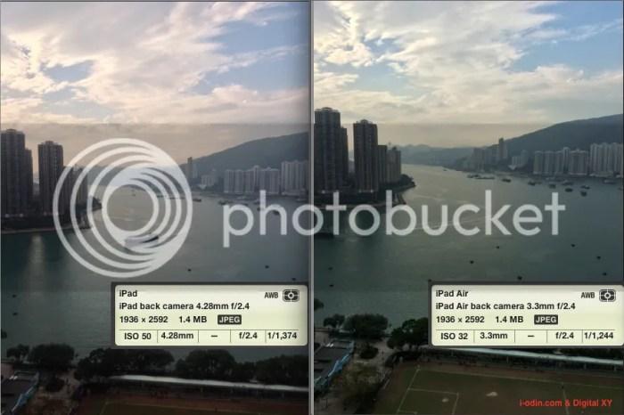 兩代 iPad 的拍照效果。左:iPad 3,右:iPad Air。