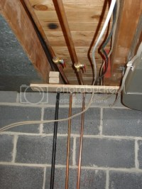 Copper pipe overhaul and gas pipe install
