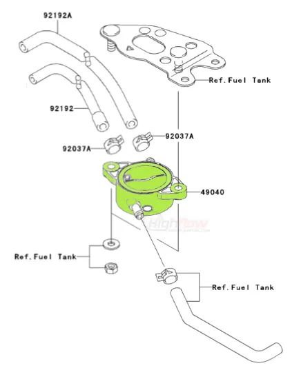 kawasaki mule 610 fuel filter