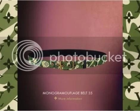 Louis Vuitton Monogramouflage Belt