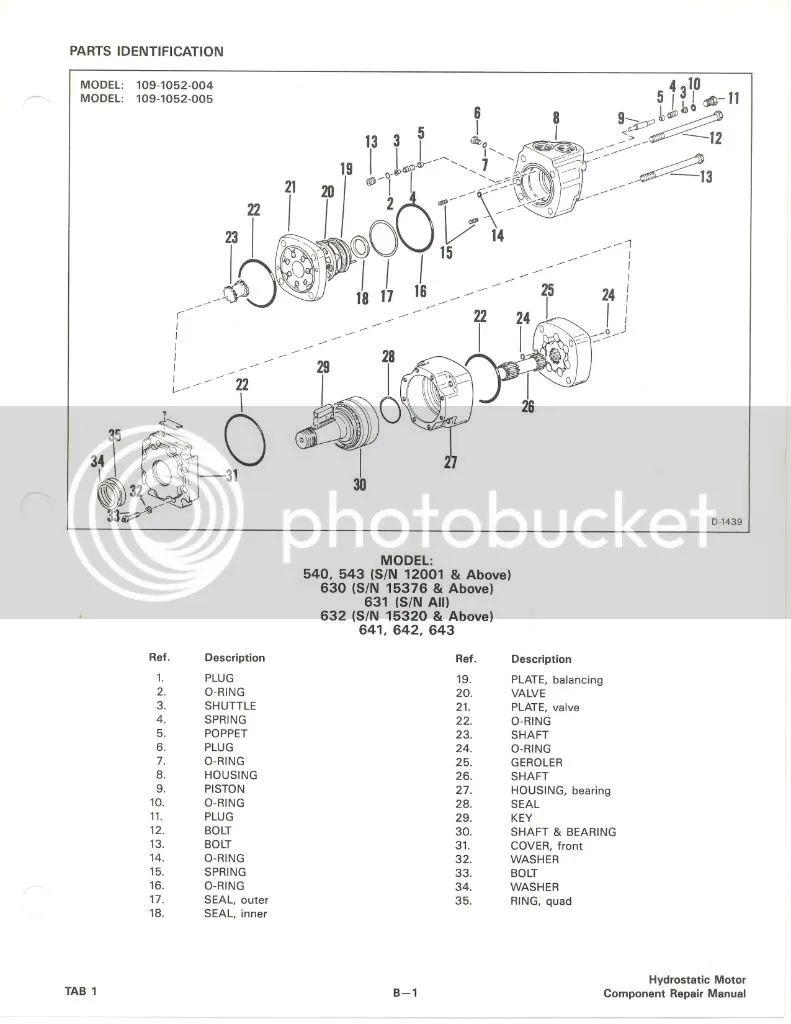 bobcat t300 drive motor diagram