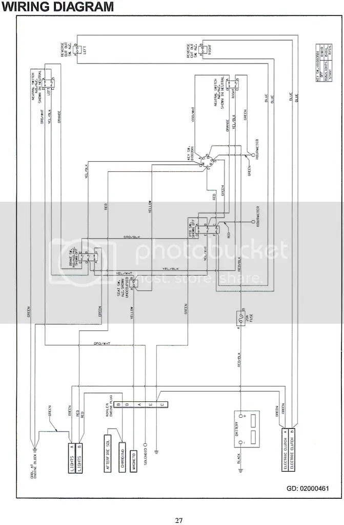Cub Cadet RZT50 electrical schemati