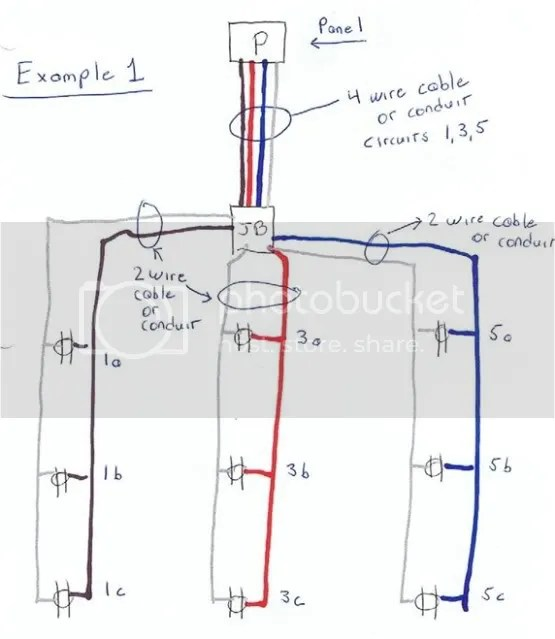 multi wire branch circuit diagram multiwire branch circuit tripping
