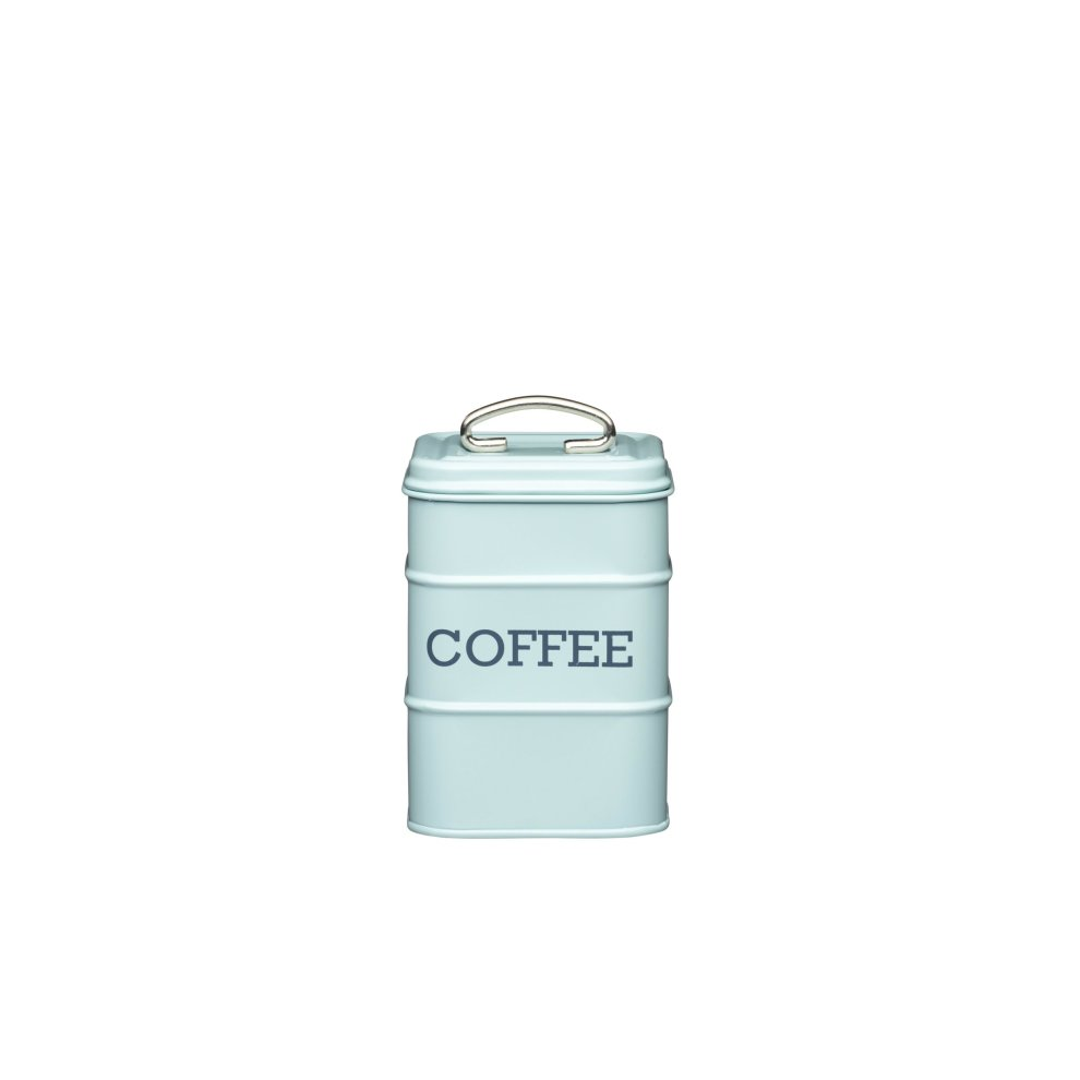 17 Cm Kitchencraft Living Nostalgia Coffee Storage Canister 11 X 17 Cm Vintage Blue