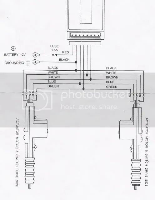 universal central locking kit wiring diagram