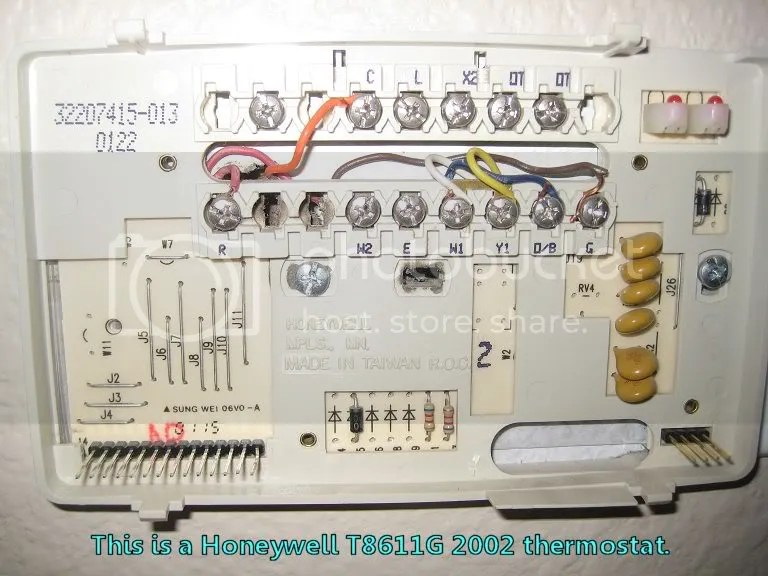 For Thermostat T8411r Wiring Diagram Thermostat Wiring Question W Pics Heat Better Pump