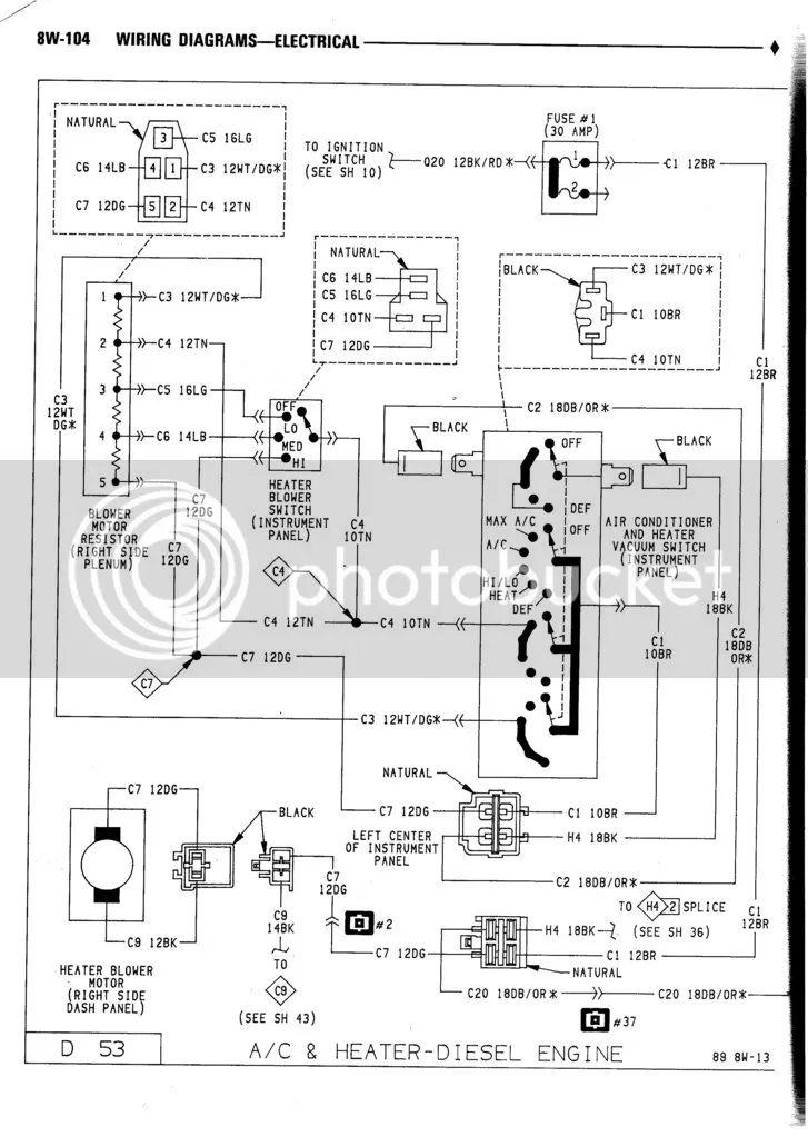 91 no power to heater blower dodge cummins diesel forum