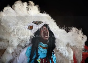 Another beautiful, elaborate Mardi Gras Indian costume