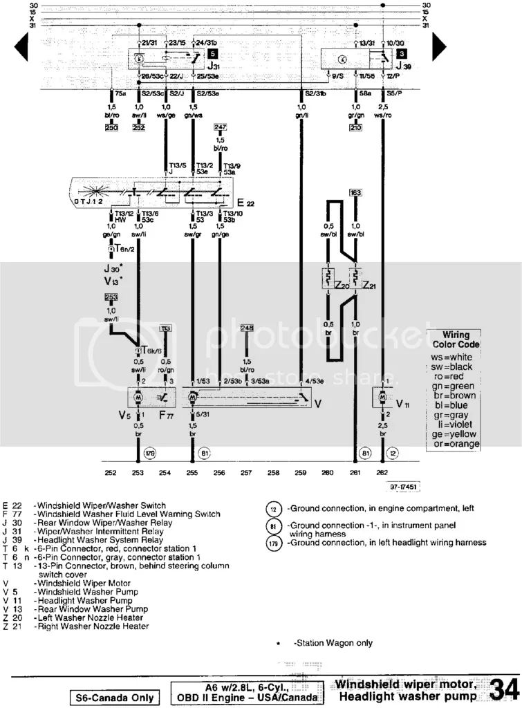 wiring diagram audi a6 2007