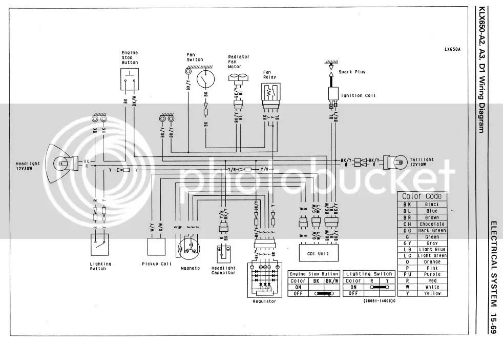 Wiring Schematic 1994 Kawasaki Klx 650 Wiring Diagram