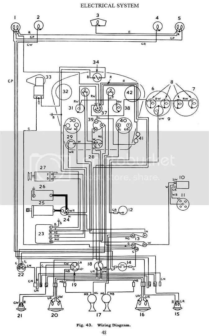 mga turn signal wiring diagram