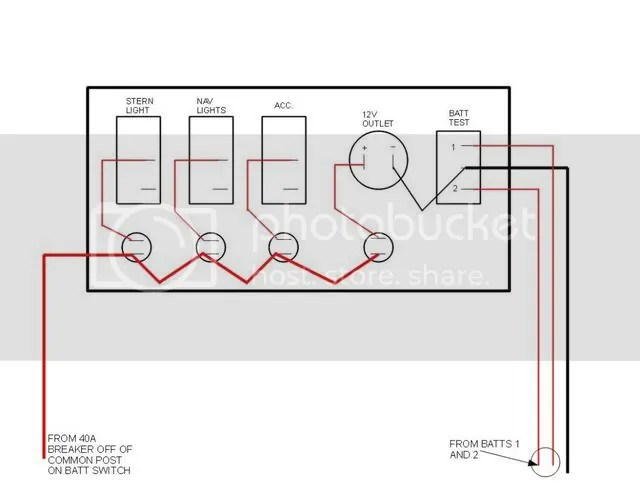 Wiring help for 3 gang panel switch with lighter, battery meter Page