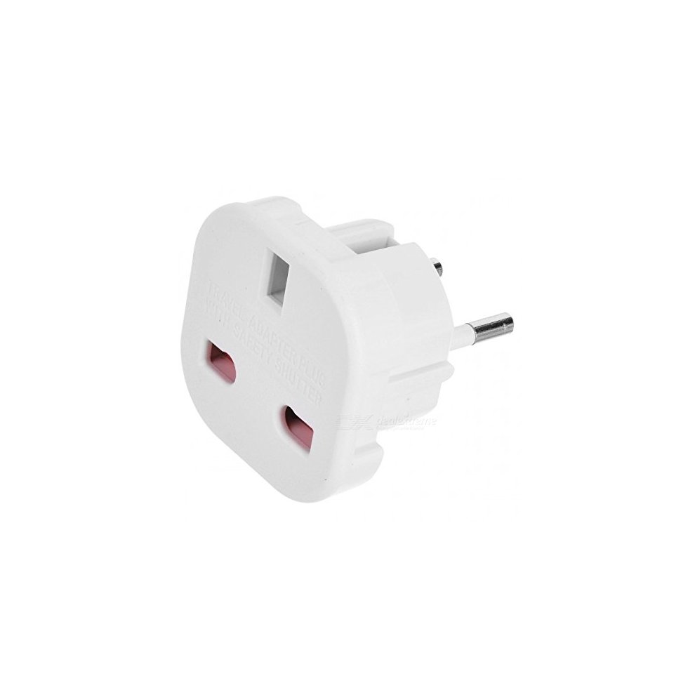 Travel Adapter Eu To Uk Travel Adapter Uk To Eu Euro European Adapter White Plug 2 Pin Pack Of 5