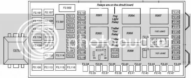 2001 ford excursion v10 fuse diagram