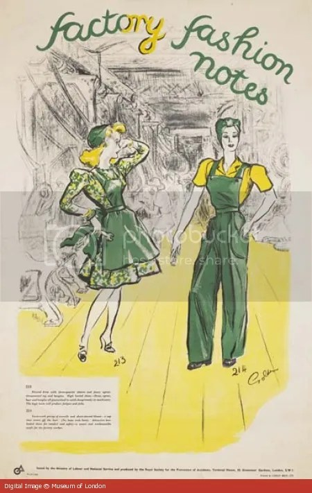 Chronically Vintage WW2 Factory Fashion poster blends style and