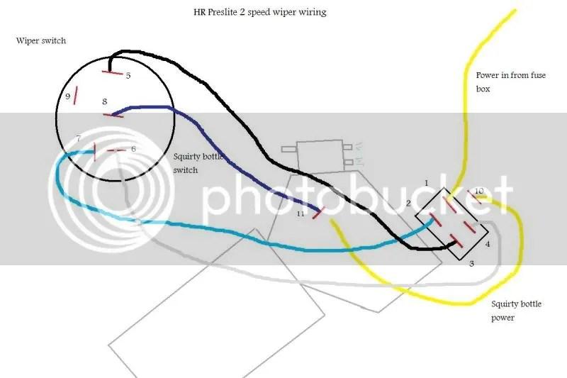 Switch Wiring Diagram For Wiper Motor Rocker technical wiring diagram