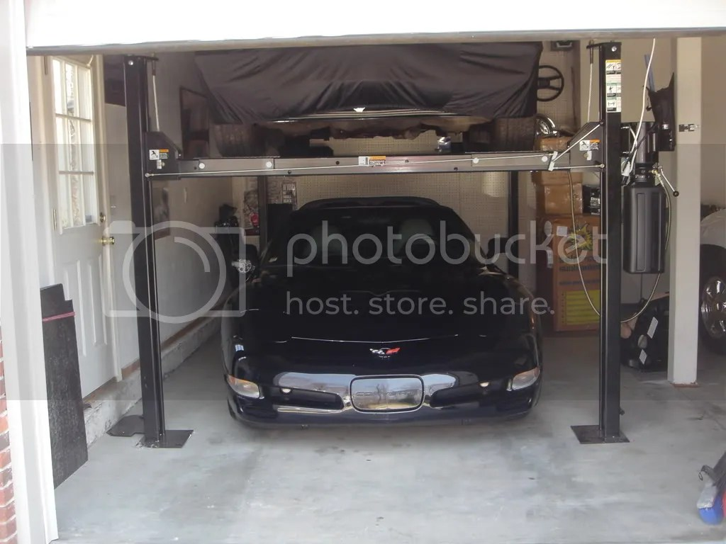 In Ground Garage Car Lift Direct Lift Pro Park 8s And High Lift Door Corvetteforum