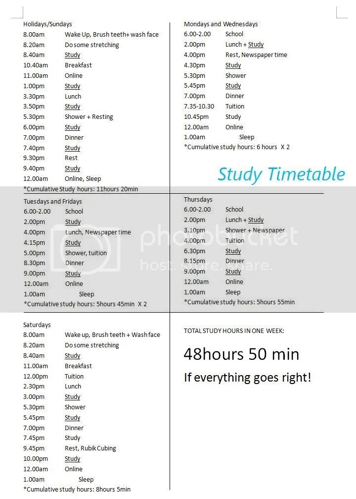 How to study for SPM if you are short of time!回忆