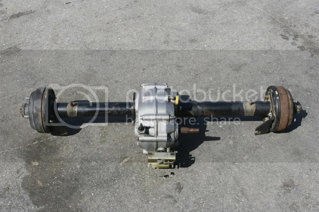 EZ Go Golf Cart Gas Rear End Axle Differential Brake on PopScreen