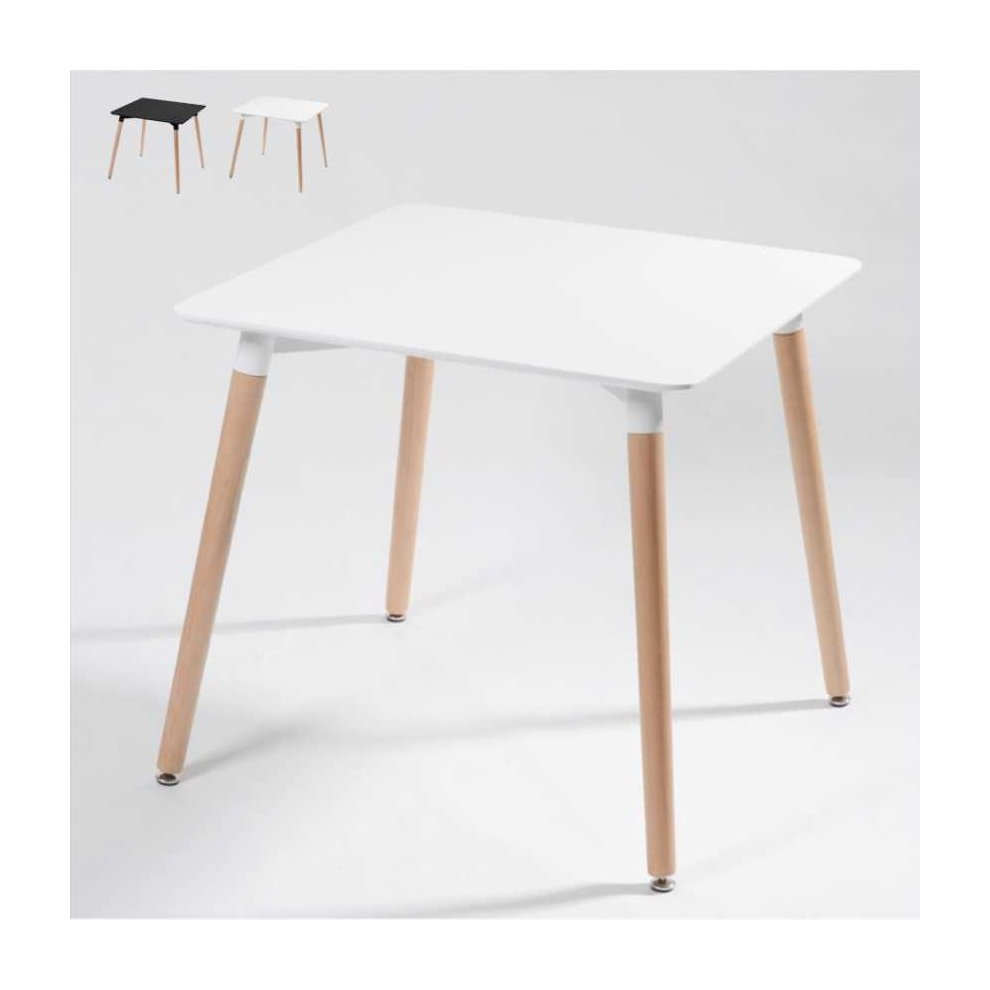 Table Polypropylène Table Dsw Eamess Daw In Wood And Polypropylene 80x80 On Onbuy