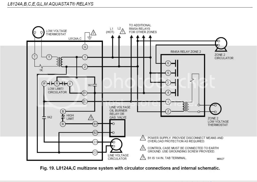 r845 honeywell switching relay wiring diagram