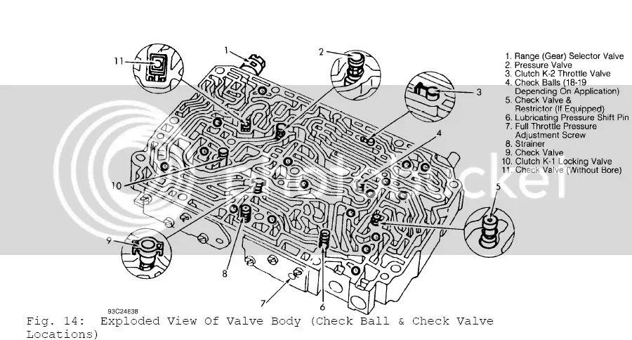 700r4 valve body exploded view diagram