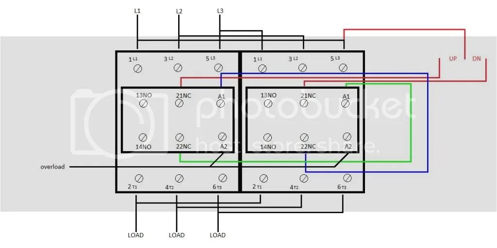 reversing contactor wiring diagram single phase reversing motor