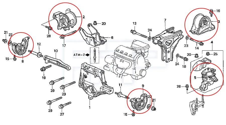 honda b16 engine diagram