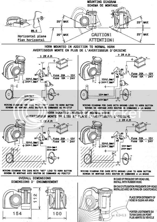 snail horn wiring diagram