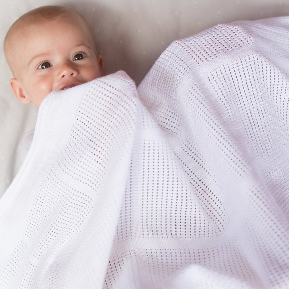 Cellular Cot Blankets Little Bamboo Airflow Cellular Cot Blanket