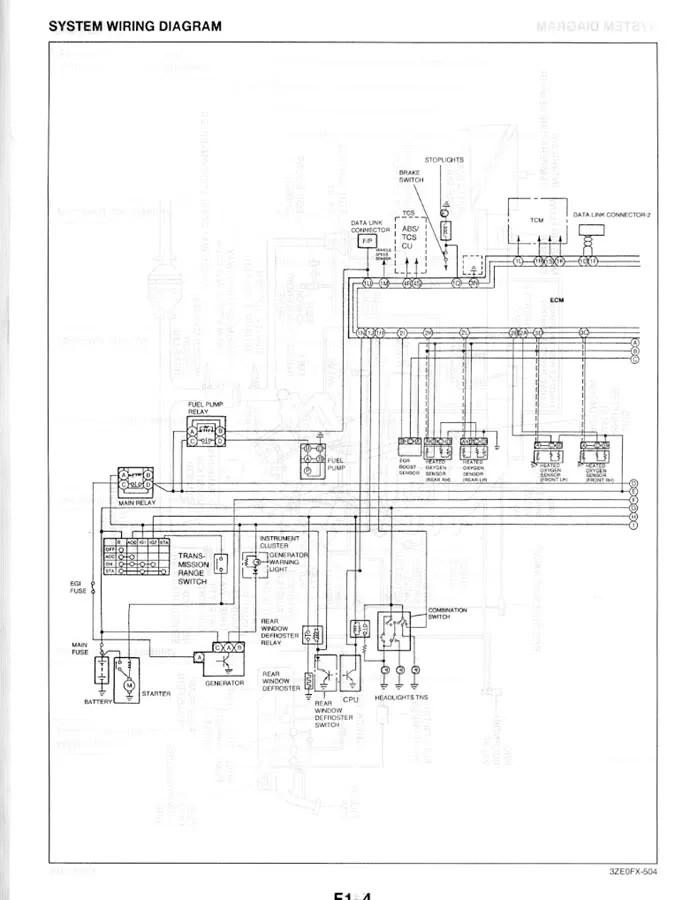 MAZDA EUNOS 800 WIRING DIAGRAM - Auto Electrical Wiring Diagram