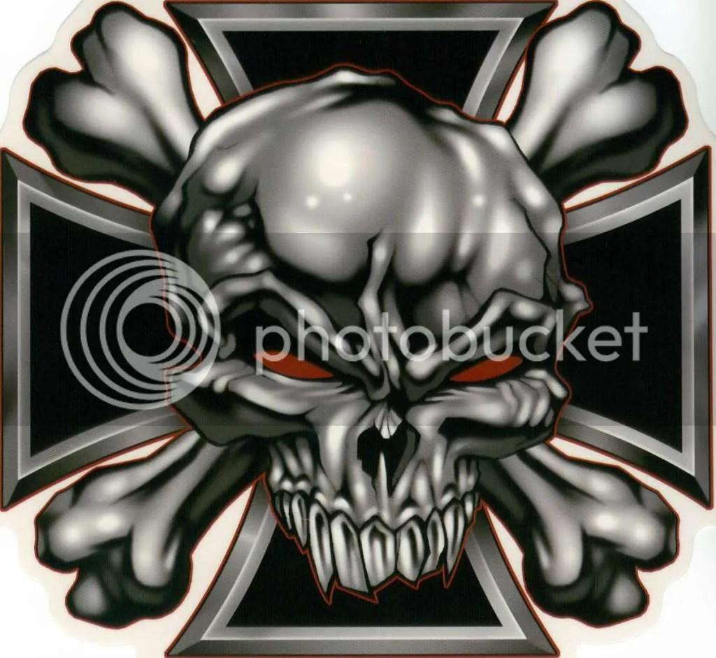 Animated Skull Wallpaper Stickerironcrossskull Jpg Photo By Herrweller Photobucket