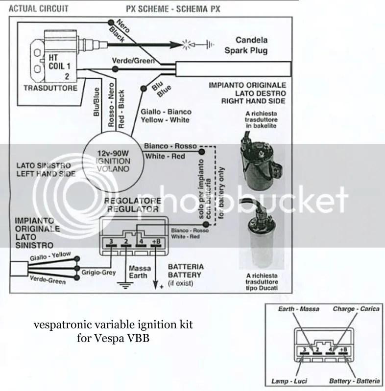 Modern Vespa  Vespatronic on a post \u002779 P125X