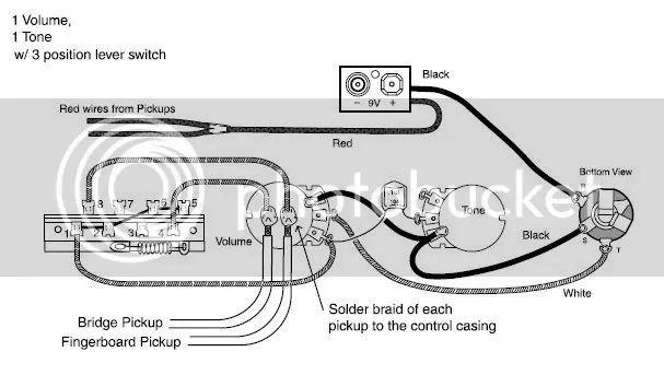 barrel guitar jack wiring