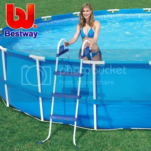 Bestway Ladder For Above Ground Swimming Pool 107Cm 42 Inch Deep