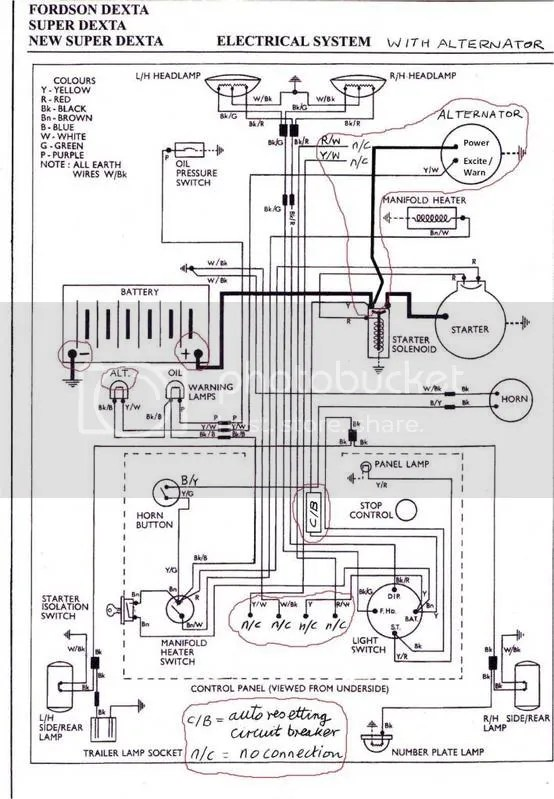 Ford Dexta Wiring Diagram Electronic Schematics collections