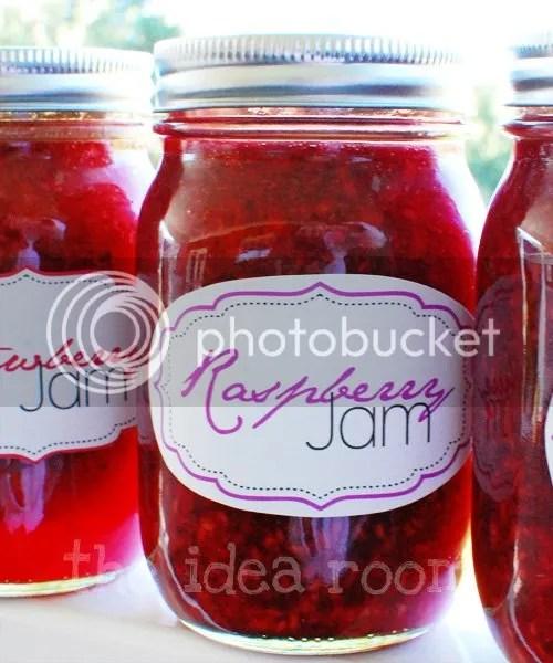 Homemade Jam Jar Labels - The Idea Room