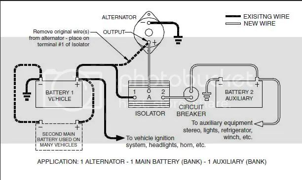 how to connect battery isolator