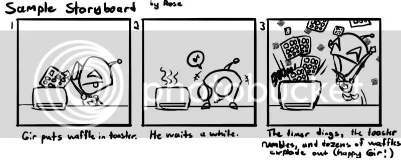 Example Comic Script - sample script storyboard