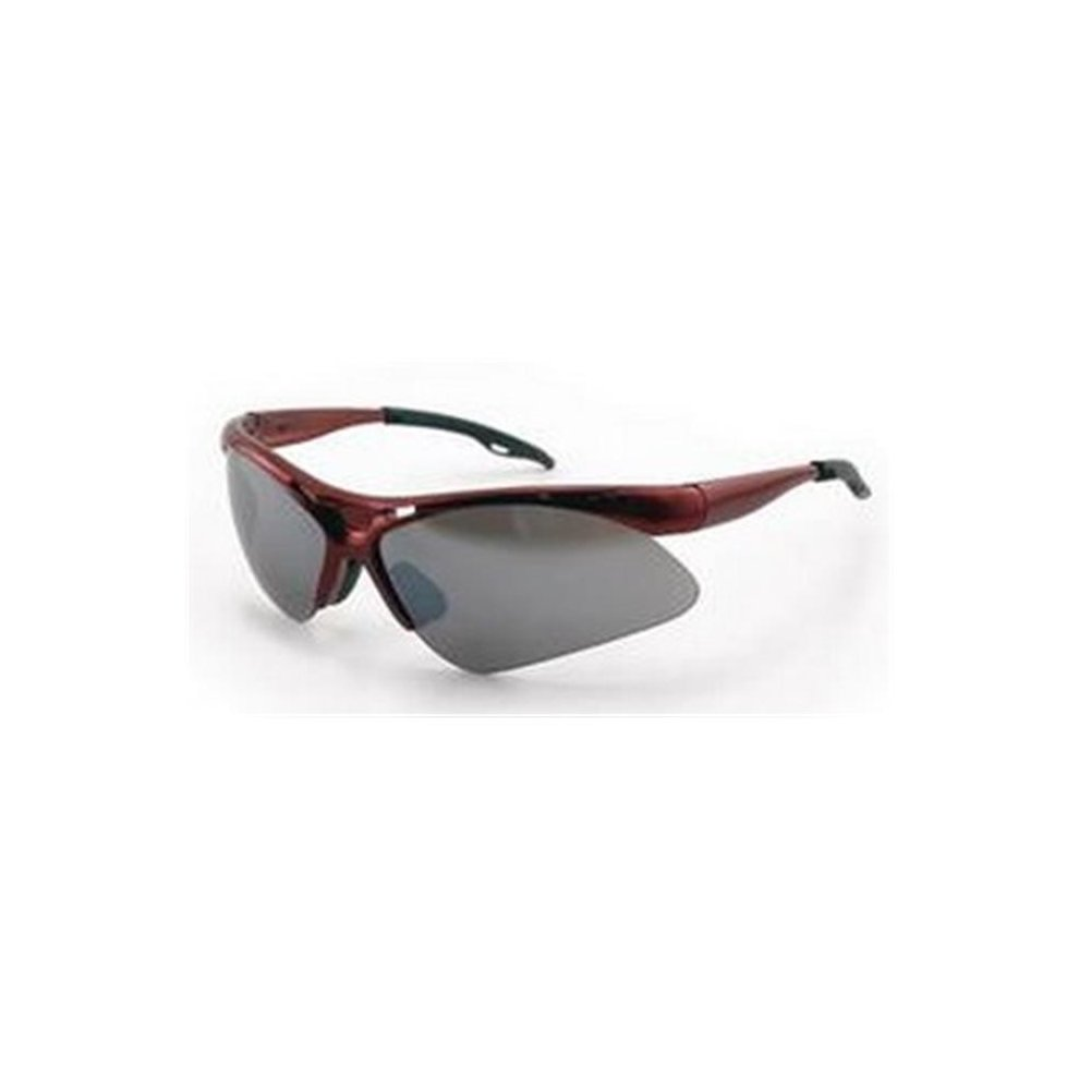Mirror Frame Glasses Sas Safety Sa540 0003 Dia Back Red Frame Safety Glasses With Smoke Mirror