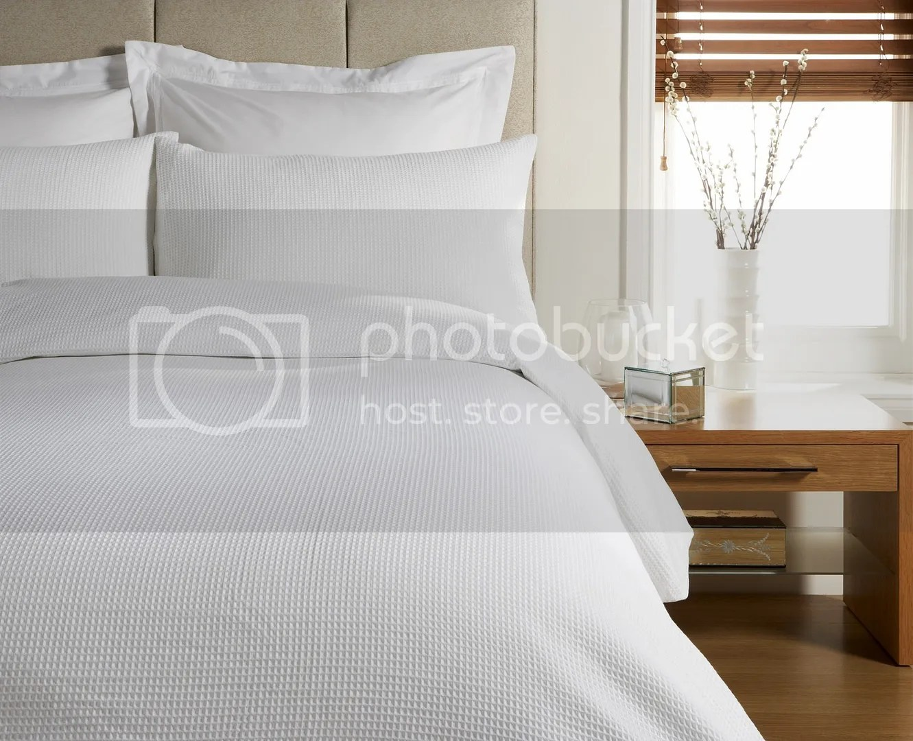 Waffle Egyptian Cotton 300 Thread Duvet Cover Bed Set Ebay