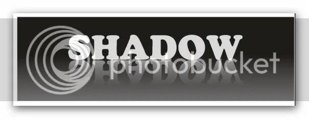 Tampaklah Seolah Bayangan Tulisan Shadow Tersebut Memantul Dari