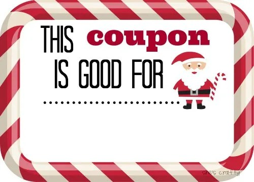 She\u0027s crafty Last Minute Gift idea- Christmas Coupons