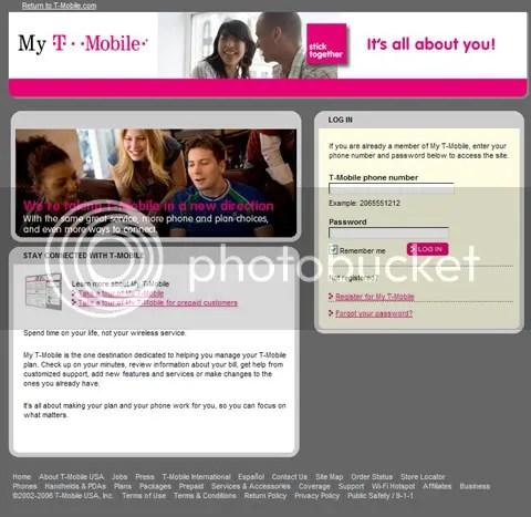 My TMobileMytmobile - my tmobile com