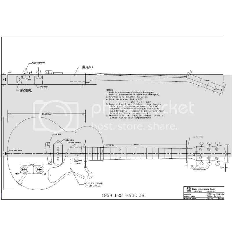 Les Paul Dimensions Diagram Wiring Diagram