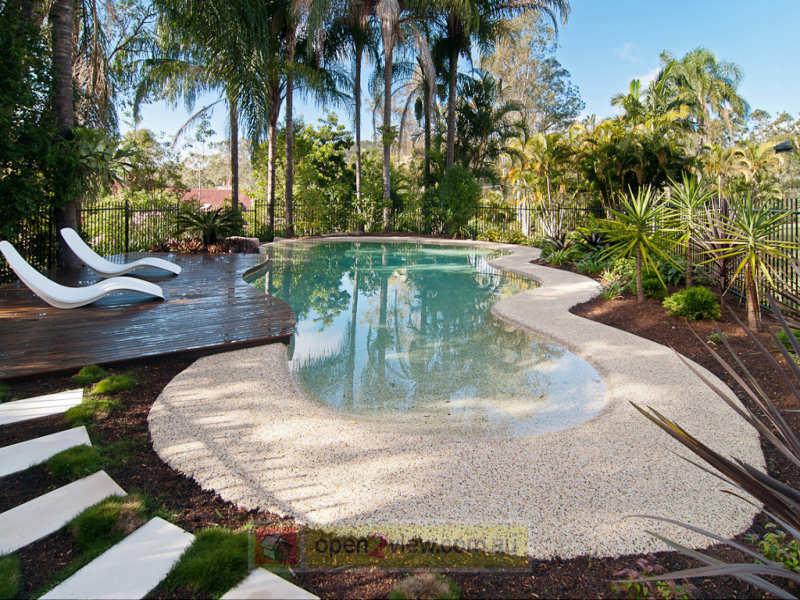 australian native garden design using grass with pool u0026 rockery