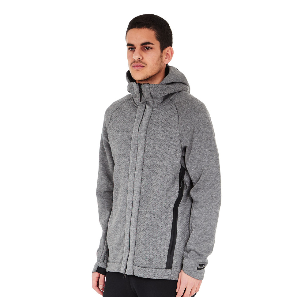 Nike Hoodie Carbon Heather Nike Sportswear Tech Fleece Zip Up Hoodie