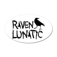 Raven Lunatic - Halloween Wall Decal by GB_Raven_Lunatic